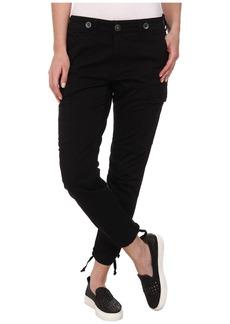 Hudson Rowan Slouchy Skinny Cargo Pants in Black