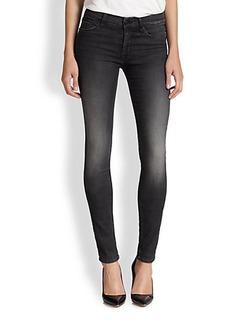 Hudson Shine Mid-Rise Skinny Jeans