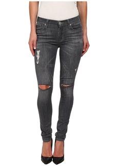 Hudson Shine Mid Rise Skinny Jeans in Obsidian