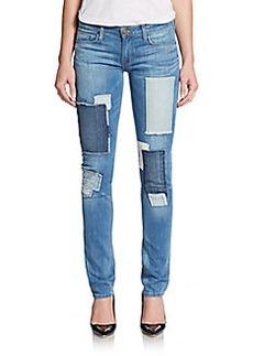 Hudson Shine Patchwork Skinny Jeans