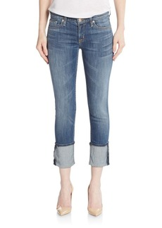 Hudson Skinny Cropped Jeans