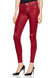 Hudson Skinny Jeans in Crimson Destructed
