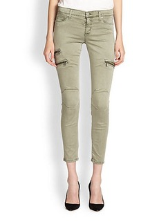 Hudson Skinny Zipper Cropped Cargo Pants