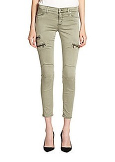 Hudson Skinny Zipper Cropped Cargo Pants