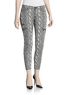 Hudson Snake-Print Skinny Jeans
