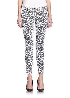 Hudson Spark Zebra-Print Super Skinny Jeans