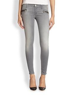 Hudson Spark Zip-Pocket Skinny Jeans