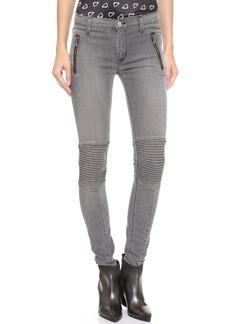 Hudson Stark Moto Skinny Jeans