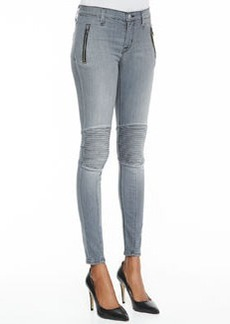 Hudson Stark Moto Vandal Light Wash Denim Jeans
