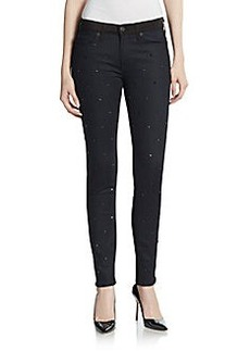 Hudson Studded Mid-Rise Skinny Jeans