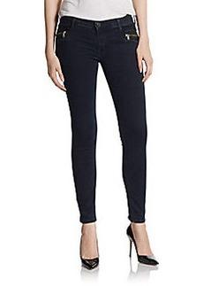 Hudson Super Skinny Ankle-Zip Jeans