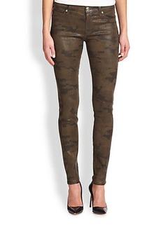 Hudson Super Skinny Coated Camouflage Jeans