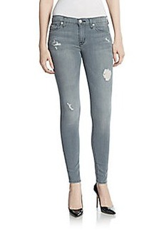 Hudson Super Skinny Distressed Jeans