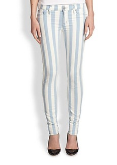 Hudson Super Skinny Striped Jeans