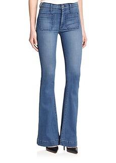 Hudson Taylor High-Waist Flared Jeans