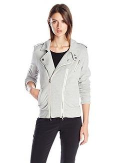 Hudson Women's Cynic Moto Jacket In Monochrome, Monochrome, Large