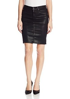 Hudson Women's Matti Pencil Skirt In Black Wax