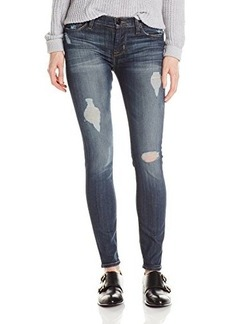 Hudson Women's Nico Distressed Midrise Skinny Jean In Checkmate