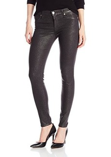 Hudson Women's Nico Midrise Skinny Jean with Supple Gold Sparkle Coating, Tactics, 25