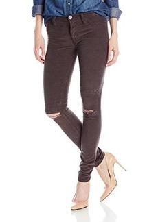 Hudson Women's Nico Midrise Super Skinny Corduroy Pant In Chrome Equinox, Chrome Equinox, 32
