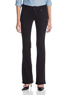 Hudson Women's Petite Bootcut Jean In Black, Black, 29