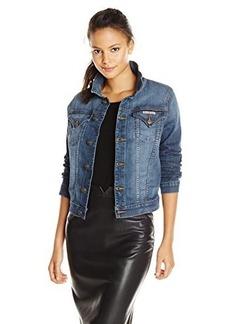 Hudson Women's Signature Denim Jacket In Tambourine, Tambourine, X-Small