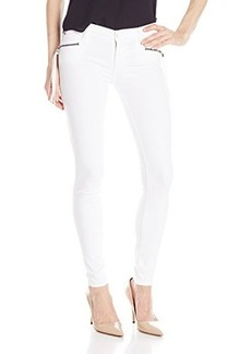 Hudson Women's Spark Zipper Skinny Jean In White