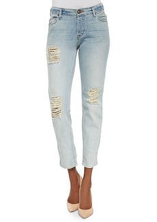 Leigh Distressed Boyfriend Jeans, Weekend Warrior   Leigh Distressed Boyfriend Jeans, Weekend Warrior