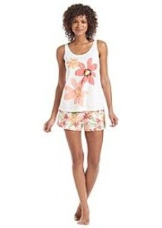 HUE® Abby Floral Boxer Pajama Set
