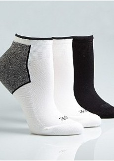 HUE Air Sleek Athletic Socks 3-Pack