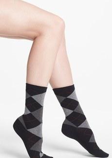 Hue Argyle Socks