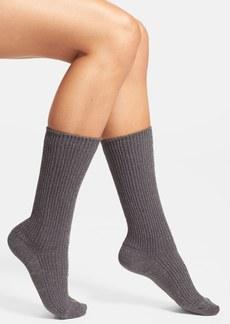 Hue 'Biker' Metallic Ribbed Socks