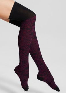 HUE Brocade Jacquard Over-the-Knee Socks