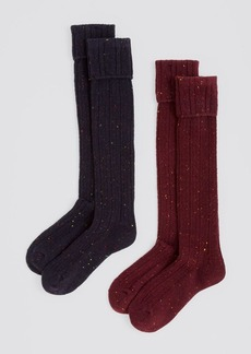 HUE Cable Turncuff Knee Socks