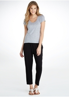 HUE ChillChic Relaxed Fit Jersey Skimmer Pants