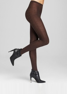 HUE Chunky Cable Knit Sweater Tights