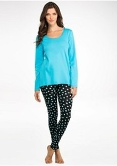 HUE Circle Takes Square Knit Pajama Set