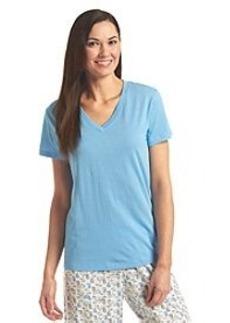 HUE® Classic Knit V-Neck Top - Little Boy Blue