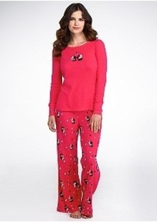 HUE Classic Scotty Thermal Knit Pajama Set