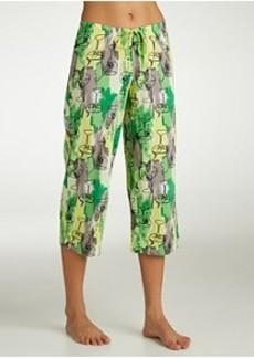 HUE Cocktail Shower Knit Capri Pajama Pants Plus Size