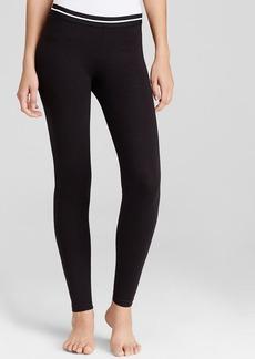HUE Contrast Stripe Skimmer Leggings