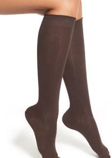 Hue Cotton Blend Roll Top Knee Socks