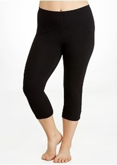 HUE Cotton Capri Leggings Plus Size