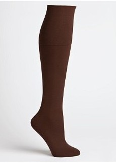HUE Cotton Knee High Trouser Socks