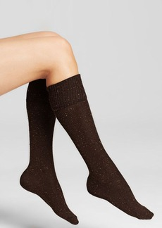 HUE Cuffed Tweed Knee Socks