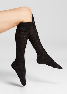 HUE Cuffed Tweed Knee Socks