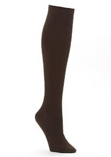 HUE Diamond Texture Knee High Socks