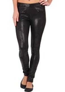 HUE Distressed Blocked Ponte Leggings
