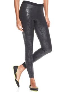 Hue Distressed Leatherette Leggings