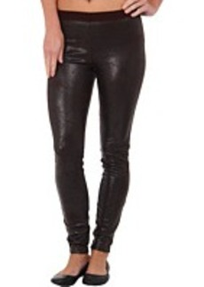 HUE Distressed Leatherette Leggings